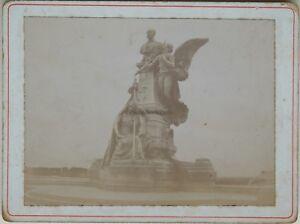 Angouleme-Statua-di-Carnot-Francia-Fotografia-Vintage-citrato-1900