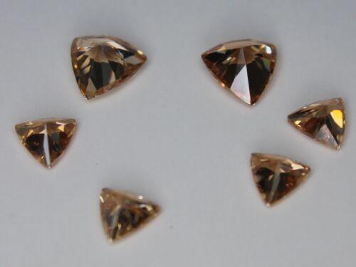 CZ Triangle cut Dark Champagne 6x6mm 8x8mm Loose AAA Cubic Zirconia Gemstone