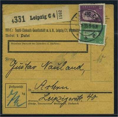 Paketkarte 1933 Leipzig Siehe Beschreibung Um Das KöRpergewicht Zu Reduzieren Und Das Leben Zu VerläNgern 115006