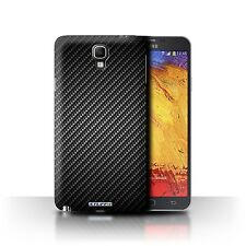 Case/Cover for Samsung Galaxy Note 3 Neo / Carbon Fibre Effect/Pattern / Grey