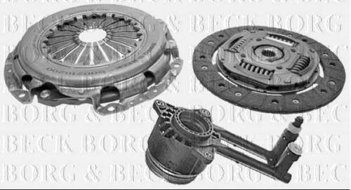 HKT1143 BORG & BECK CLUTCH 3in1 CSC KIT fits Ford Fiesta/Fusion 1.4TDCi