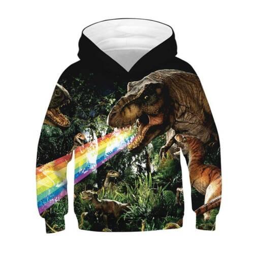 3D Graphic Print Hoodie Coat Kids Boy Girl Jacket Sweatshirt Pullover Jumper Top