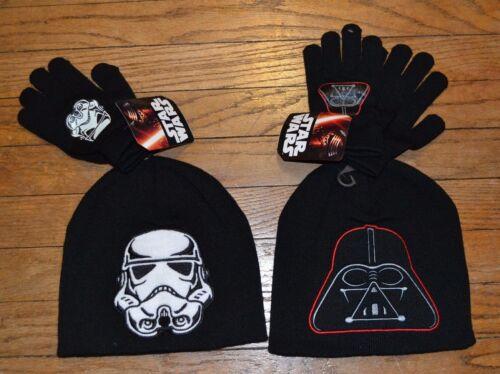Star Wars Boys Youth Hat /& Glove Set You Choose Darth Vader or Stormtrooper