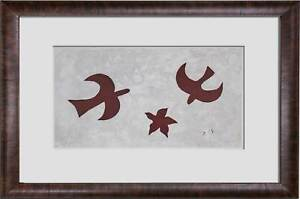 Georges-BRAQUE-LIMITED-Ed-Lithograph-Birds-Of-Flight-SIGNED-w-Custom-FRAME