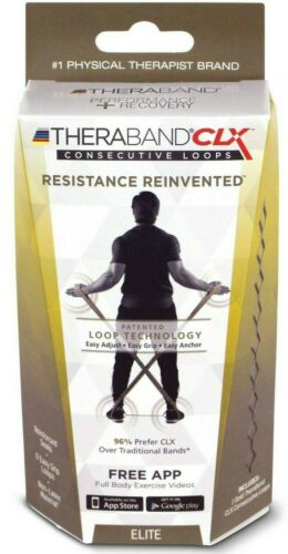5 ft TheraBand Non-Latex CLX Consecutive Loops Resistance Band with Loops RED