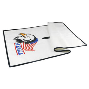 USA-Eagle-Microfiber-New-Golf-Towel-32-034-x-18-034-White-Towel-For-Center-Cut-Style