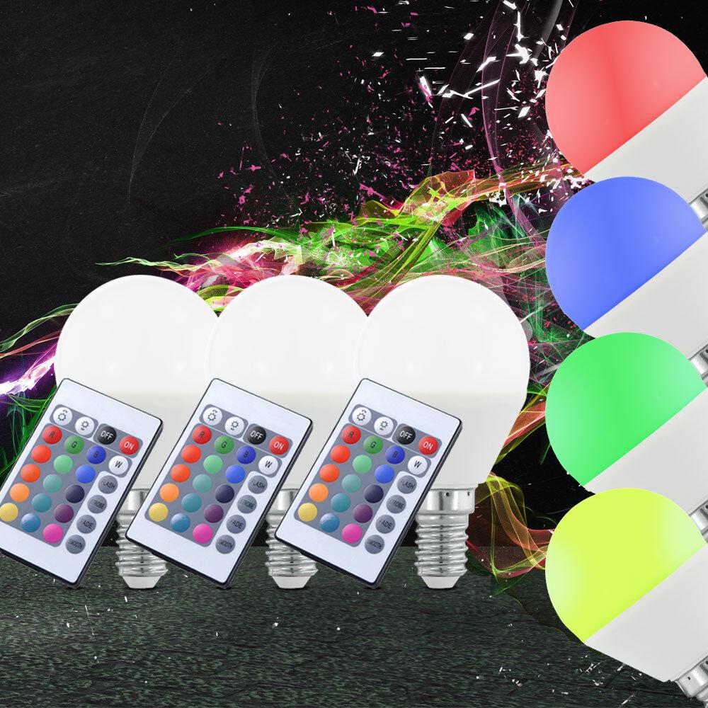 3er Set RGB LED LED LED e14 risparmio energetico lampadina 4 W Dimmer 300 LM telecomando 417316