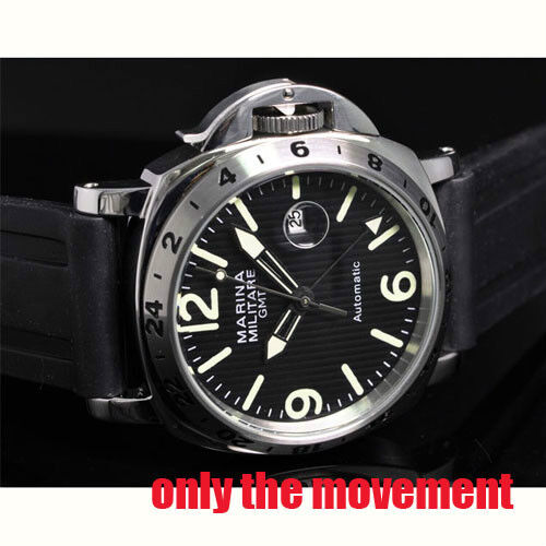 Mingzhu 3804 GMT and date automatic mechanical movment M12