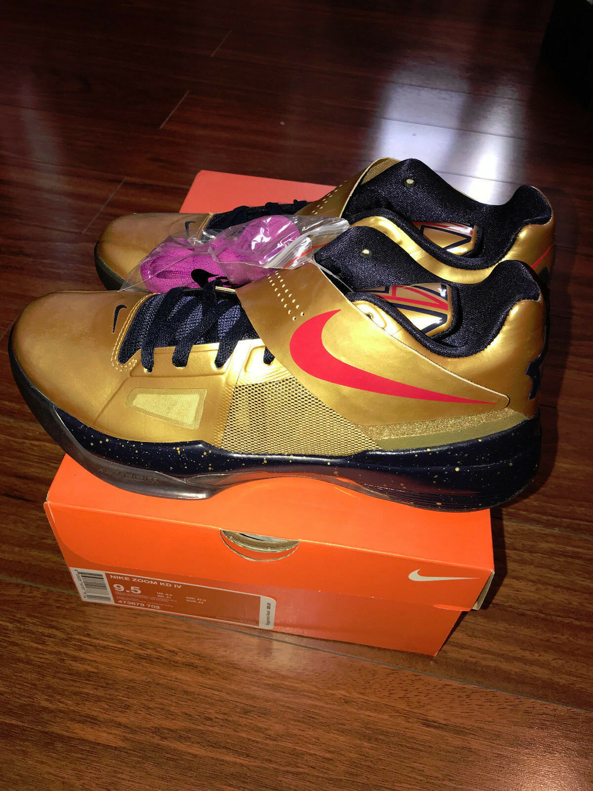 DS KD IV 4 KEVIN DURANT GOLD MEDAL  473679 702 sz 9.5   galaxy all star