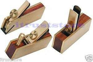 3 pc small mini miniature size wood hand thumb block plane for Small hand held garden tools