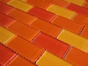 Glasmosaik mosaik fliesen rot orange mix halbverband - Mosaik fliesen rot ...