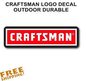 CRAFTSMAN-6-034-STICKER-Toolbox-Outdoor-Vinyl-Decal-1-Piece-NEW-Made-in-USA