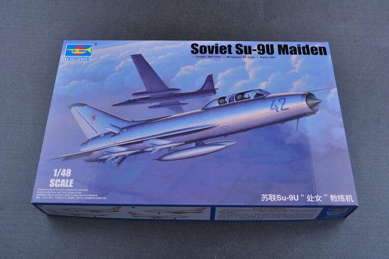 02897 Trumpeter Warplane Soviet SU-9U Maiden Trainer Aircraft Static Model 1 48