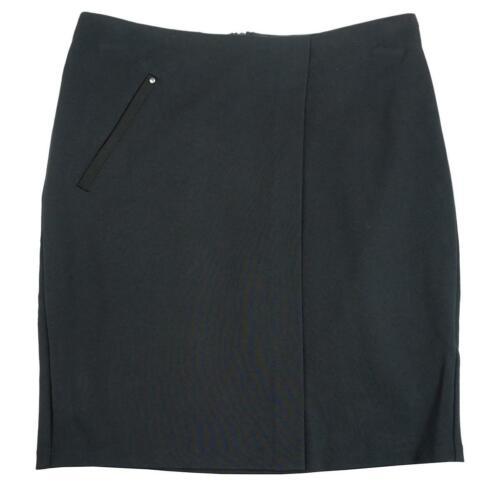 Girls Wrap Over Smart School Uniform Skirt Black Teens 10 to 16 Years