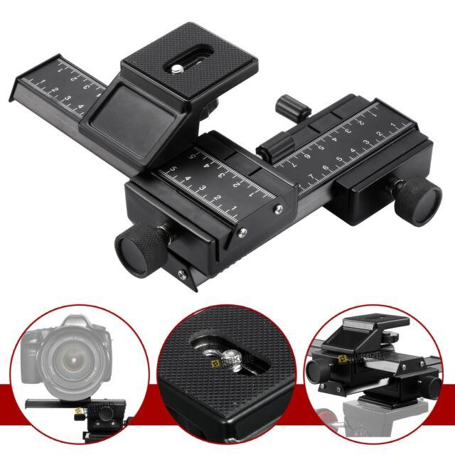 4-Way Macro Sliding Focus Focusing Rail Slider DSLR Camera Tripod Bracket Meking
