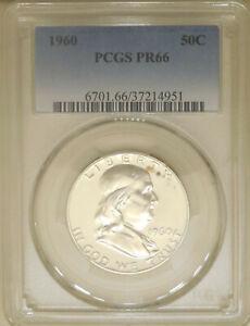 1960-PCGS-PR-66-Franklin-90-silver-half-dollar-proof-GEM