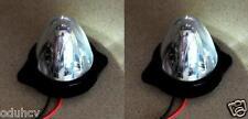 2x 24V LED bianco Luci Di Ingombro Rotante Camion Autotelai Per Rimorchi Furgone