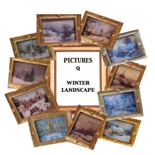 Dolls House Miniatures Handmade Picture X1 choose from 11 set Q - WINTER