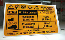 Land Rover Discovery Range Classic A/C Air Conditioning V8 Decal Sticker AWR1322