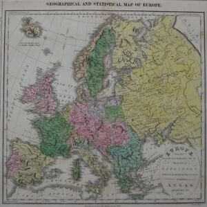 Original 1820 matthew carey map europe poland germany england spain image is loading original 1820 matthew carey map europe poland germany gumiabroncs