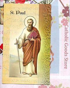 Santos-St-Paul-Biografia-Oracion-Fiestsa-Dia-Etc-Carpeta-Tarjeta