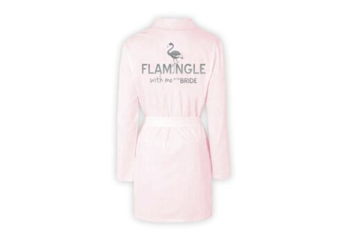 Personalised Luxury Dressing Gown 100/% Cotton Flamingle Bride Hen Party Wedding