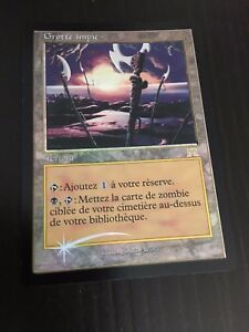 MTG-ONSLAUGHT-UNHOLY-GROTTO-FRENCH-GROTTE-IMPIE-NM-FOIL