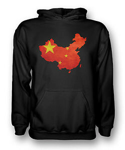 Black de la Chine Drapeau chinoise Hoodie cartehommess 0wOkPn