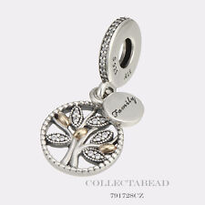 Authentic Pandora Sterling Silver & 14K Gold Family Heritage CZ Bead 791728CZ