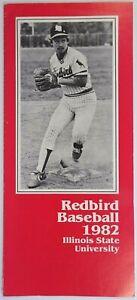 Redbird Baseball Illinois State University Record Schedule Coach Duffy Bass 1982