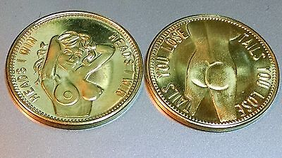 """Tails You Lose/"""" Novelty Coin nude Different Than Others. Vintage /""""Heads I Win"""