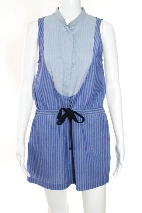 Sea New York bluee Cotton Striped Sleeveless Romper Size 2  New 087303