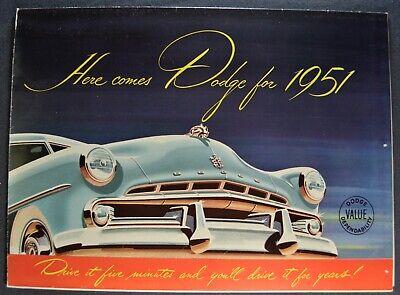 1952 Dodge Wayfarer Coronet Meadowbrook Brochure Catalog Prospekt