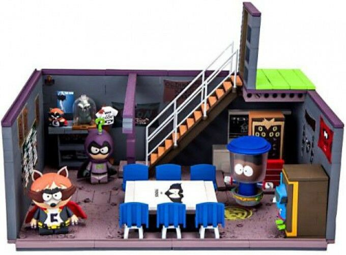 Cartman's Basement with The Coon, Mysterion & Tupper Wear Large Construction Set