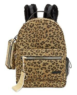 Steve Madden Rascal Backpack With Pencil Case - Leopard/gold 98.00