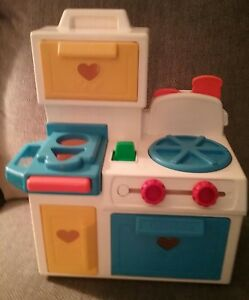 Fisher Price Vintage Kitchen Play Set Shape Sorter Made In The Usa Ebay