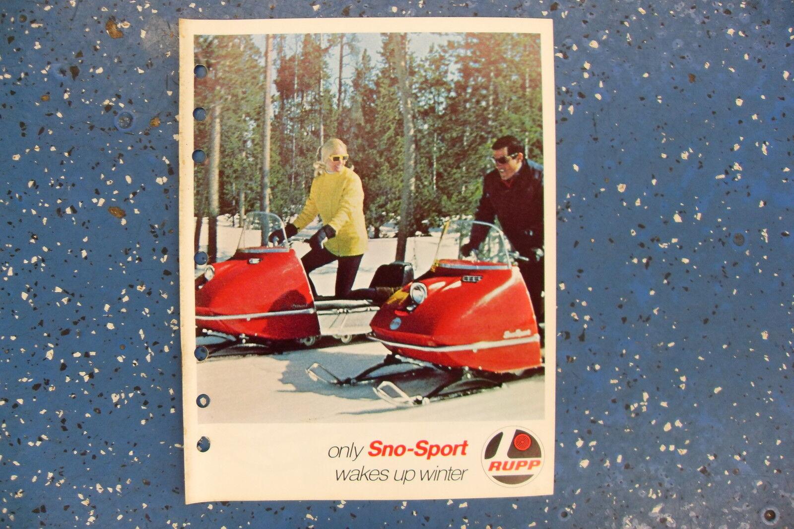 Rupp Brochure VINTAGE Sno-Sport S-281, GT-300, GT-370, GTE-370 COOL FIND