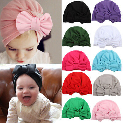 Infant Toddler Knot Turban Beanie Headband Soft Warm Knotted Hat Cap Headwrap