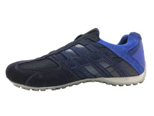Geox Snake Men/'s Sneakers Navy//Blue Suede U8207E02214C4002