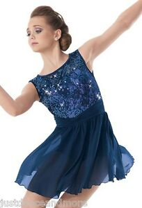 NEW-FIGURE-ICE-SKATING-BATON-TWIRLING-DRESS-COSTUME-ADULT-AND-CHILD-DANCE
