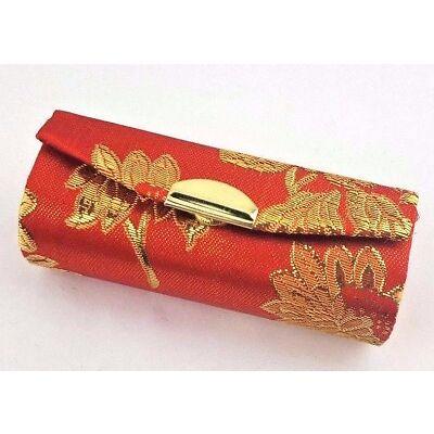 NEW!! Multi-Set Lipstick Satin Silk Case Pouch Holder / Coin Box with Mirror
