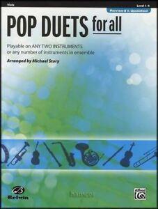 Pop Duos Pour Tous Viola Sheet Music Book Ensembles Pour Tous-afficher Le Titre D'origine