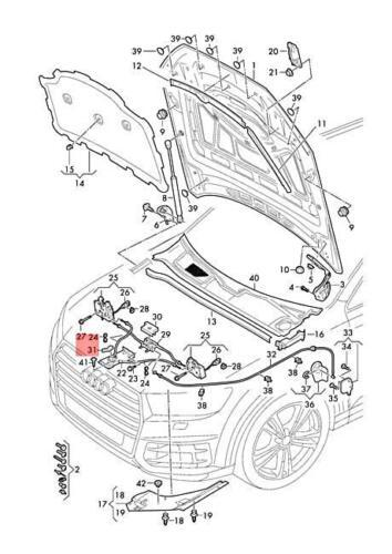 Genuine Release Lever AUDI Q5 4M0823661D