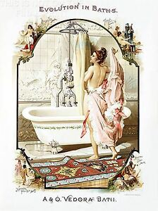 ART-PRINT-POSTER-ADVERT-BATHROOM-BATHTUB-BATH-EVOLUTION-USA-NOFL1554