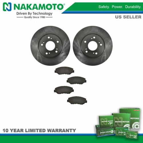 Nakamoto Front Ceramic Brake Pad /& Rotor Kit for Honda Accord Civic Element