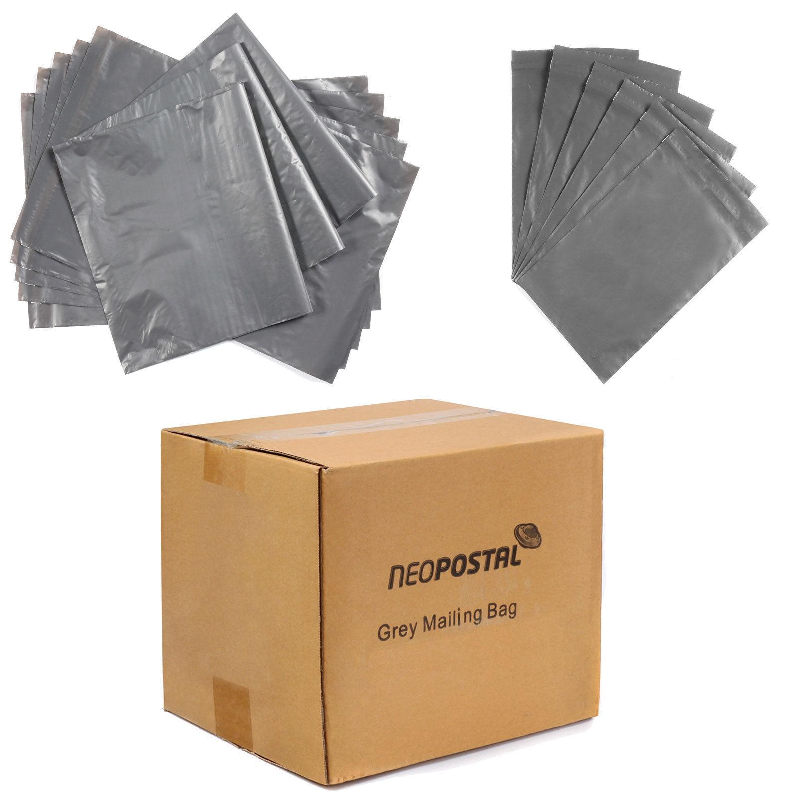 "250 6x9/"" GREY PLASTIC MAILING//POSTAL//MAIL//SELF SEAL BAG"