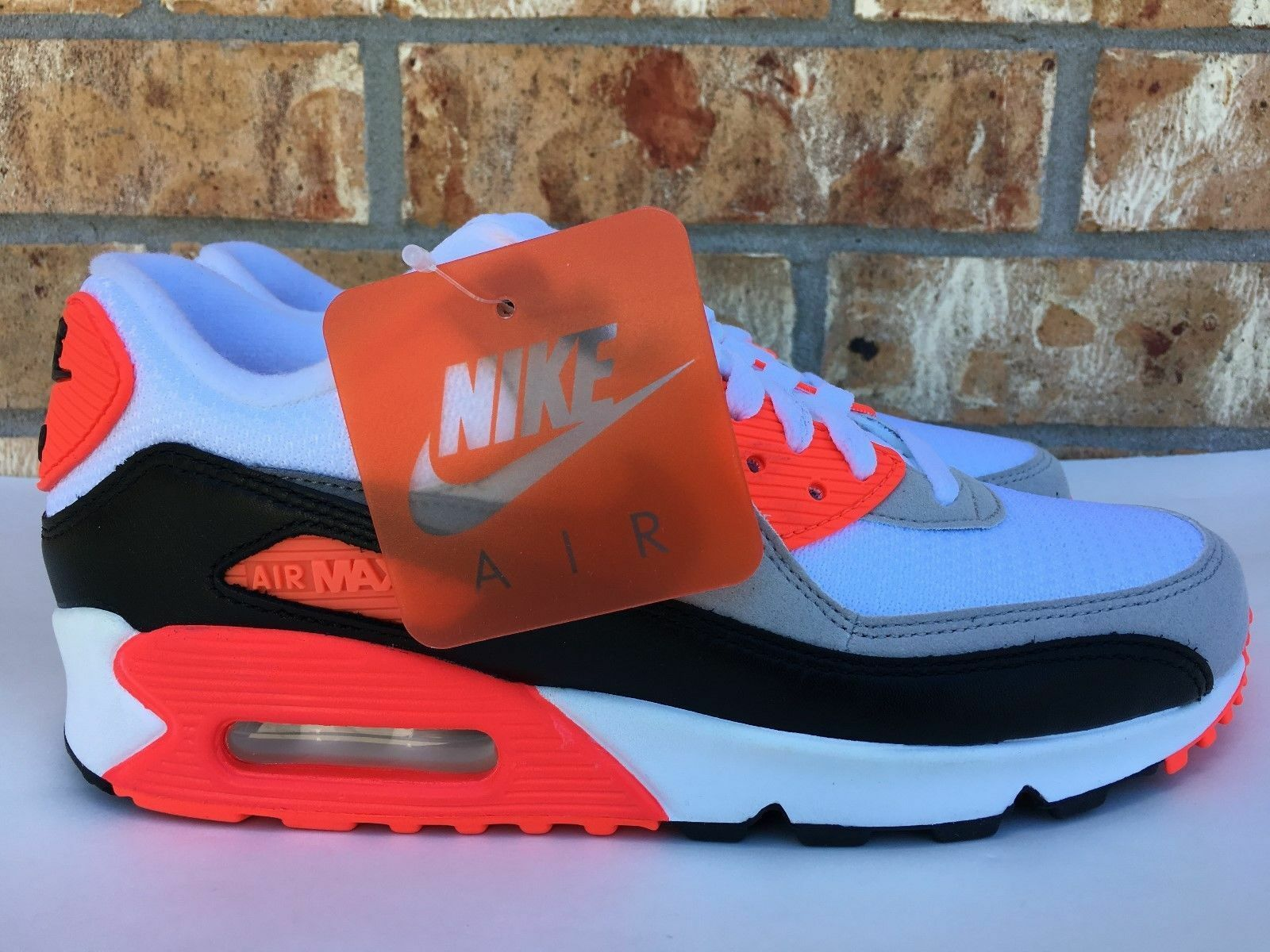 Nike Air Max 90 OG Wmns Shoes Infrared Cool Grey White LIMITED 742455-100 Sz 8