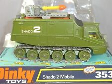 "DINKY TOYS No.353 SHADO 2 MOBILE  "" GREEN VERSION ""   BUBBLE BOX  MIB"