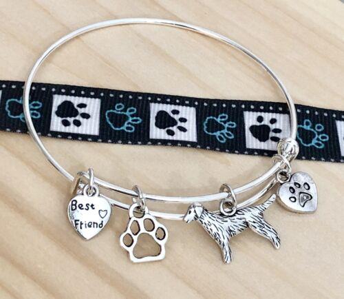Golden Retriever ~Lab~ big Dog /& I ❤ my Dog~Best Friend Charm Bangle Bracelet