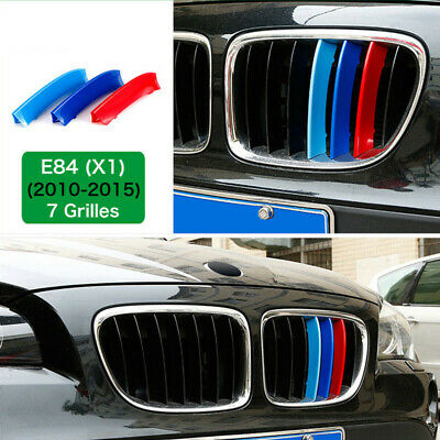 M-Sport 7 Bars Kidney Grill Grille 3 Color Cover Clips for BMW X1 E84 09-15